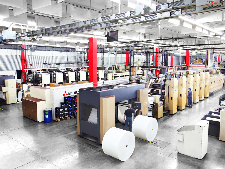 Web Offset Printing Pressroom